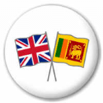 Great Britain and Sri Lanka Friendship Flag 25mm Pin Button Badge